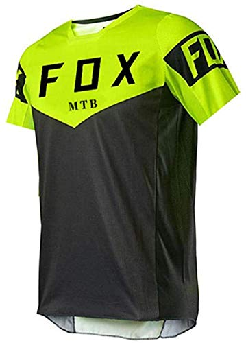 Fahrradtrikot Für Frauen Langarm,Dirt Bike Jersey Herren,Herren Downhill Trikots Kurzarm MTB Fox Mountainbike Shirts Offroad Dh Motorrad Trikot Motocross Sportwear Fxr L