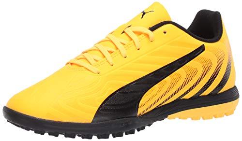 PUMA Men's ONE 20.4 TT Sneaker, Ultra Yellowpuma Blackorange Alert, 8 M US