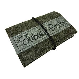 Tabaktasche Tabakbeutel aus Filz – handmade – Drehertasche mit Fächer für Filter mit Reißverschluss, Tabak – Drehtabak…