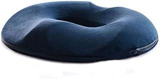 痔、前立腺、背中の痛み、尾骨、妊娠、坐骨神経痛、ポスト出生時の痛みの救済、手術、記憶泡整形外科車の椅子サポート枕のためのシートクッションドーナツコンフォート枕,Blue