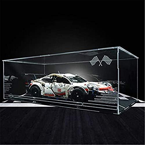 obzk Caja de exhibición de acrílico, escaparate Acrílico de escaparate para Bloques de construcción Modelo Compatible con Technic Porsche 911 RSR 42096 - Caja de acrílico (no Incluye el Modelo)