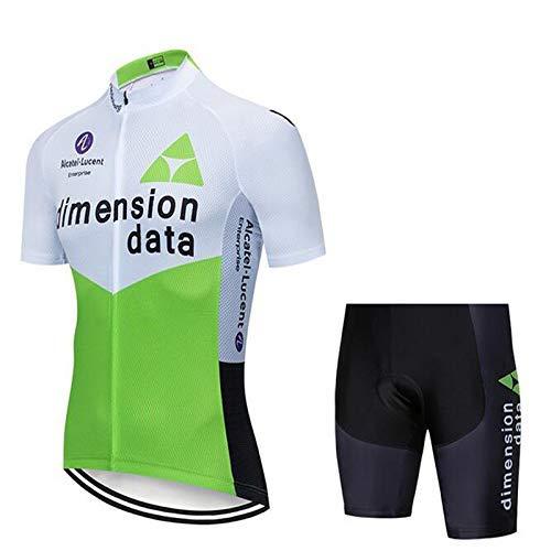 SUHINFE Ensemble de Maillot de Cyclisme pour Hommes, vêtements de Cyclisme Respirants à séchage Rapide avec Cuissard avec Coussin 3D Seat Pad, vélo de Route