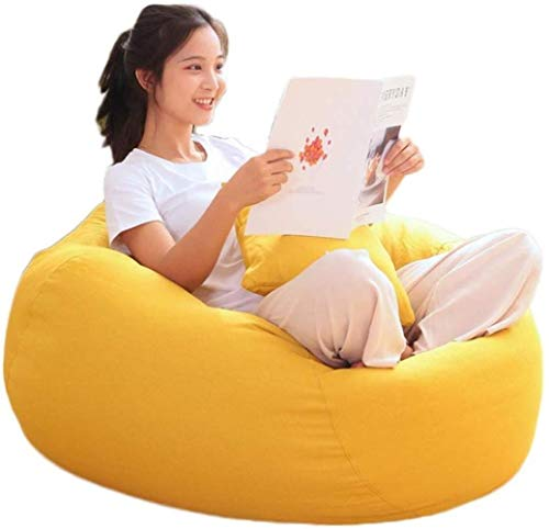 Canapé lit GCX- Tissu Bean Bag Living Room Chambre Personnalité Creative Sofa Tatami Mignon Simple Lazy Sofa Bean Bag Chair Confortable (Color : Yellow)