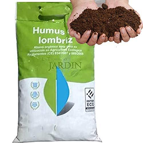 Suinga 500 KG ABONO Fertilizante ORGANICO Humus DE LOMBRIZ, Sacos de 25 Kg - 41 litros. Apto para Agricultura ecológica