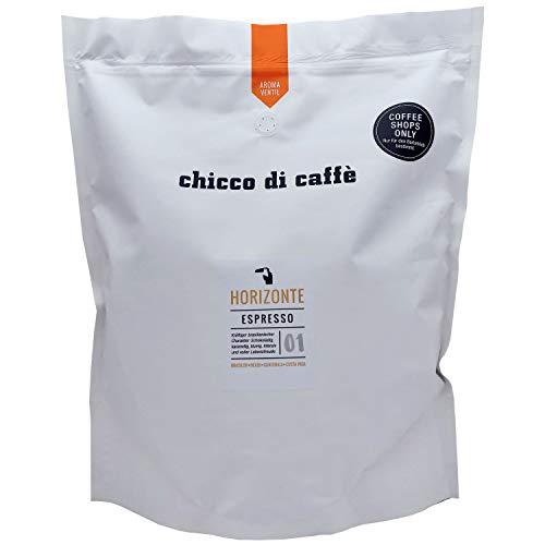 chicco di caffè | Espresso Horizonte | ganze Kaffeebohnen | 2,5 kg Großpackung | 70% Arabica - 30% Robusta | schonend geröstet