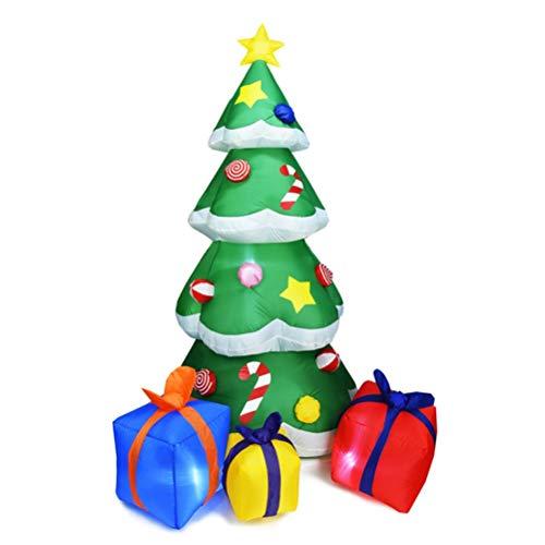 Yumira - Árbol de Navidad hinchable (210 cm, con iluminación LED, para exteriores)
