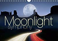 Moonlight symphony (Wall Calendar 2021 DIN A4 Landscape): The Moon, your companion for 12 months of the year (Monthly calendar, 14 pages )
