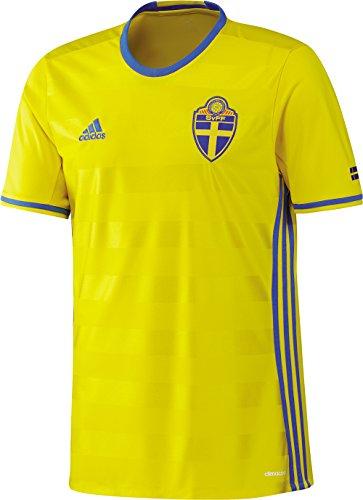 adidas Svff H JSY Camiseta 1ª Equipación-Línea Asociación Sueca de Fútbol, Hombre, Amarillo (amaril/reabri), XL