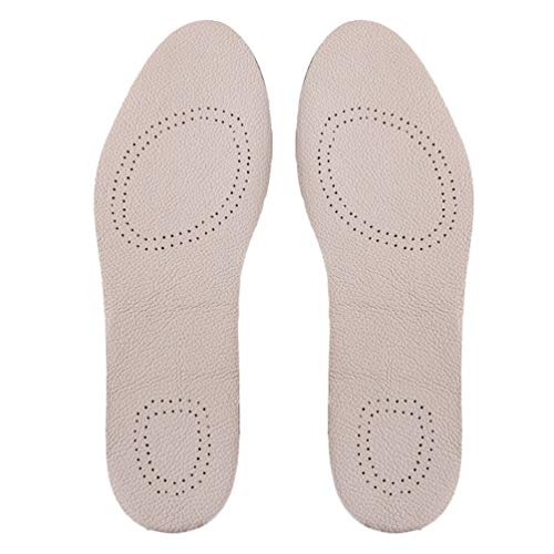 shoe pads Healifty 1Pair Leather Insole Shoe Pads Breathable Insoles Comfortable Shoe Inserts for Womens Mens