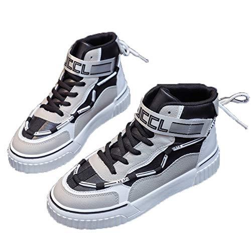 Zapatos Deportivos Casuales para Mujer Transpirables Ligeros de Mezcla de Colores Zapatillas Altas Zapatillas de Plataforma Antideslizantes para Caminar para Mujer