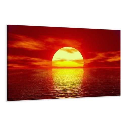 Visario Leinwandbilder 5094 Bild auf Leinwand Strand, 120 x 80 cm