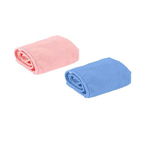 HWTOP Haarturban, 1/2 Stück Turban Handtuch mit Knopf, Microfaser Handtuch für die Haare Schnelltrocknend, Haartrockentuch Saugfähig Super Absorbent, Haar Trocknendes Tuch...