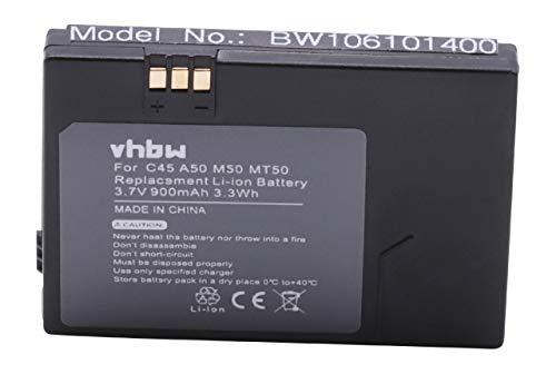 vhbw Akku kompatibel mit Siemens A50, C45, C45i, M50, MT50 Handy Smartphone Handy (900mAh, 3,7V, Li-Ion)