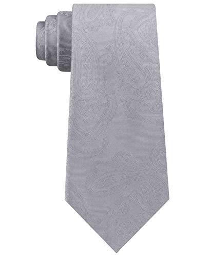 Michael Kors Corbata de cachemira de sarga para hombre, Gris, talla única