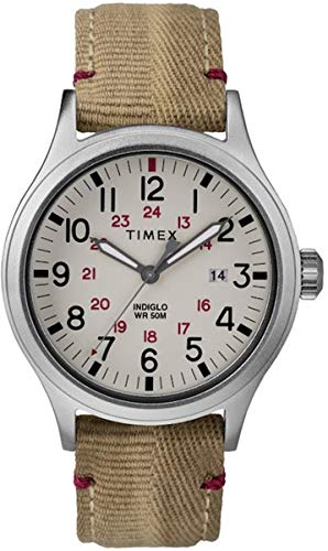 Timex Herren Analog Quarz Uhr mit Leder Armband TW2R61000