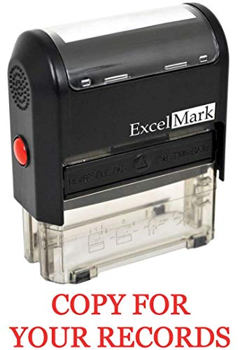 Copy for Your Records Self Inking Rubber Stamp - Red Ink (ExcelMark A1539)