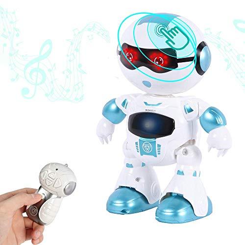 Intelligente en charismatische dansende afstandsbediening Robot met muziek en verlichting voor kinderen, Disco & Juichende RC-robot, knipperende ogen