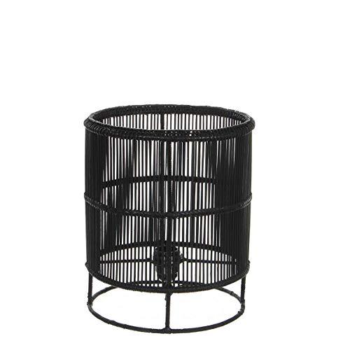 Mica Decorations Tafellamp Joice zwart, E27 fitting - 30 x Ø 25 cm