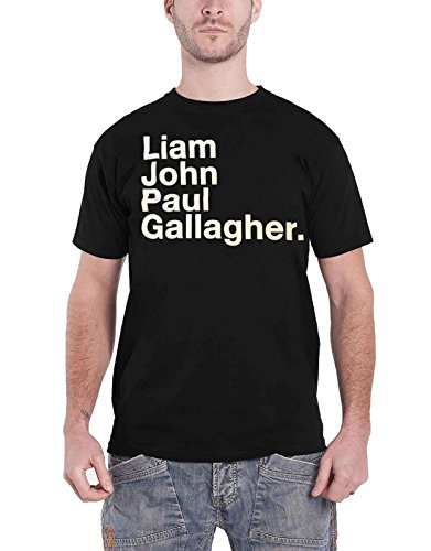 Liam Gallagher T Shirt LG Full Name Oasis as You were Nue offiziell Herren