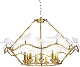 ZCdd Wall Lights Wall Lamp LED Bird 9 Light Source Gold Iron + Glass Bedroom Living Room Restaurant Study Chandelier/Lamp