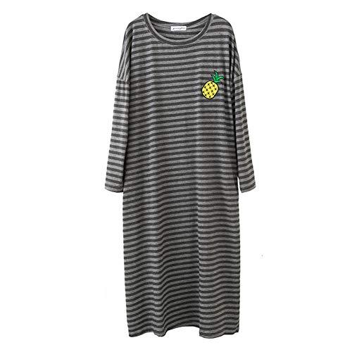 Dames Casual Jurk Lente Herfst Pyjama Modal Losse Zwangere Vrouwen Thuis Kleding Mode Sexy Nachtkleding