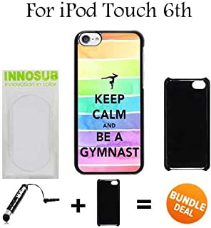 Hipster Keep Calm Be A Gymnastics Gymnast Love Custom iPod 6/6th Generation Cases-Black-Plastic,Bundle 2in1 Comes with Custom Case/Universal Stylus Pen by innosub