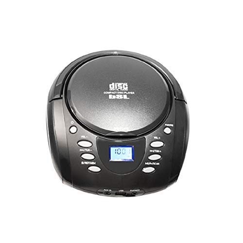 BSL Radio CD Portátil | MP3 | USB | Bluetooth | Radio FM | Aux In | Sonido Estéreo | 2 Altavoces con 5W de Potencia.