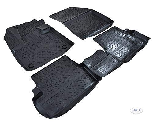 J/&J AUTOMOTIVE Exclusive 3D Rubber Floor Mat Compatible with Passat CC 2012-Pres-4pcs