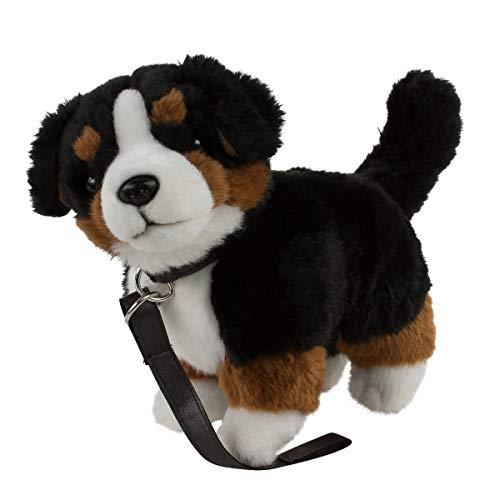 Teddys Rothenburg Kuscheltier Berner Sennenhund mit Leine 23 cm braun/schwarz/weiß stehend Plüschhund