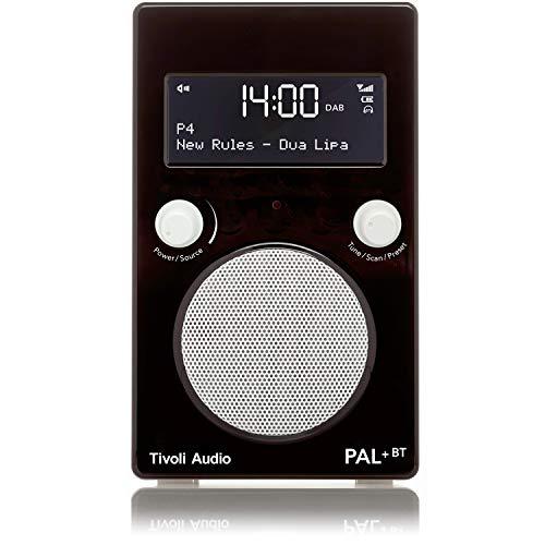 Tivoli Audio Pal+ BT tragbares Radio FM/DAB+/Bluetooth, inkl. Akkupack und Fernbedienung, schwarz/weiß