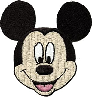 Disney Mickey Mouse Face Embroidered Iron On Movie Patch DS-360
