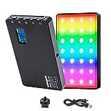 LED Videoleuchte RGB mit eingebautem Akku,Dimmbare...