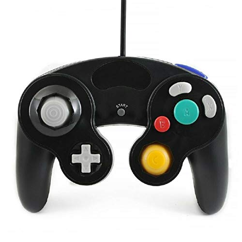 Lyyes Gamecube Controller Wired Controller for Nintendo Gamecube (Black-1pack)