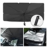 SACSTAR Car Sun Shade for Windshield Foldable Automotive Windshield Sunshades Car Umbrella for Front Window, Easy to Store and Use Fits Windshields of Various Sizes (57'' x 31'')