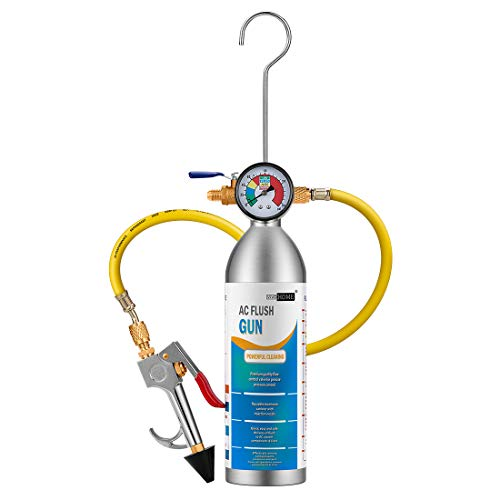 VIVOHOME AC Flush Kit Air Conditioning Flushing Gun with Barometer for R134 R12 R22 R410 and R404 A/C Systems