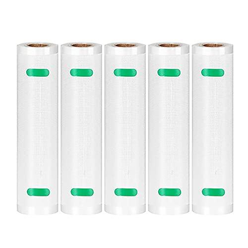 HUBLEVEL 5 Rollos/Lote Bolsas de Almacenamiento Bolsas de VacíO para Alimentos de Cocina para Sellador Al VacíO Rollos de Envasado Al VacíO 20 Cm X 500 Cm
