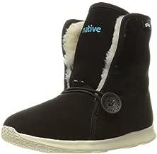 Native Shoes Unisex-Child AP Luna Scotchgard-K Slip-On, Jiffy Black/Bone White, C13 US Toddler