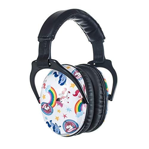 ear protectors for kids PROTEAR Kids Ear Protection Safety Ear Muffs, NRR 25dB Noise Reduction Children Earmuffs, Hearing Protectors for Sleeping, Studying, Airplane, Concerts, Fireworks - Unicorn