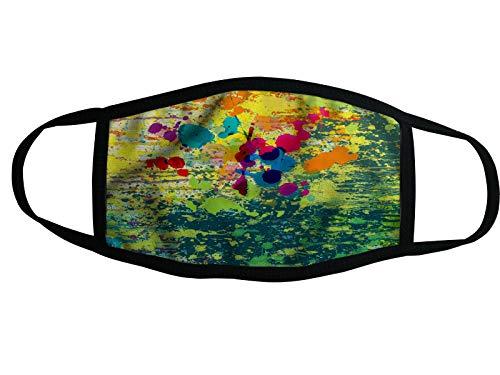 Mundschutz Nano-Technologie Atemschutzmaske Gesichtsmaske Waschbar Behelfsmaske (11 - Bunte Muster)