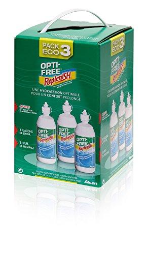 Opti-Free Replenish–Solución de mantenimiento para blandas–Pack 3botellas de 300ml