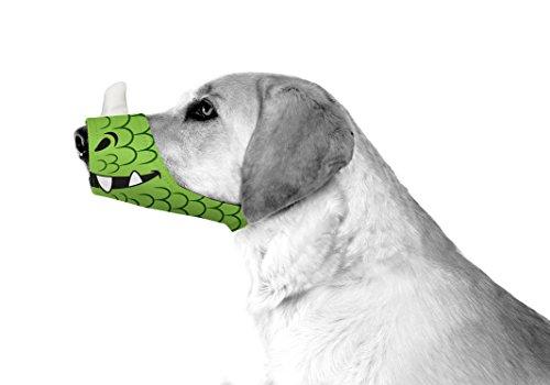 Cesar Millan Funny Muzzle, Dragon, Size 2, Green