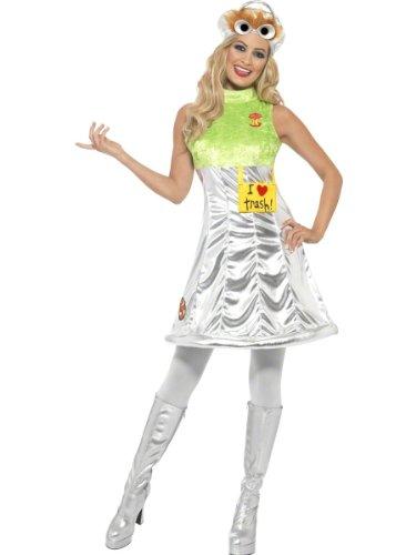 Smiffys, Damen Oscar aus der Mülltonne Kostüm, Kleid und Mütze, Sesamstraße, Größe: XS, 38679