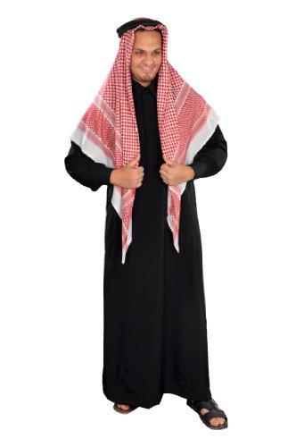 Egypt Bazar Dreiteiliges Araber Scheich Kostüm Scheichkostüm, Karnevalskostüm - Faschingskostüm-, schwarz (3XL)