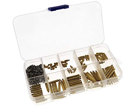 Juego de tornillos surtidos (270 piezas, latón, 3 - 25 mm)