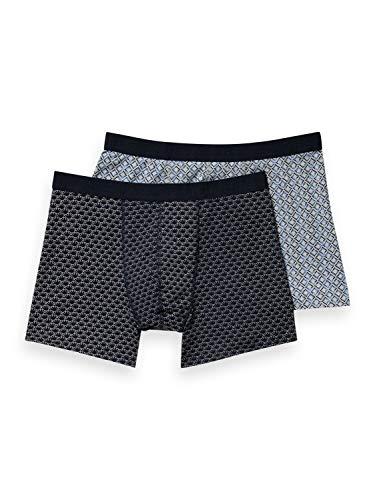 Scotch & Soda Herren Classic Boxer Short 2 Pack Boxershorts, 0218 Combo B, XXL
