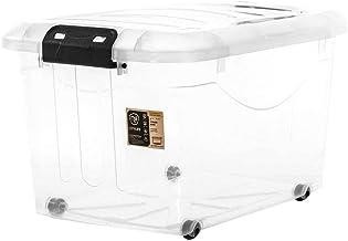 Citylife X-6138 Storage Box with Wheels, 486x358x297mm, 30L, Clear