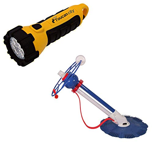Great Deal! Toucan City LED Flashlight and Blue Wave HurriClean Robotic Inground Pool Cleaner NE4455
