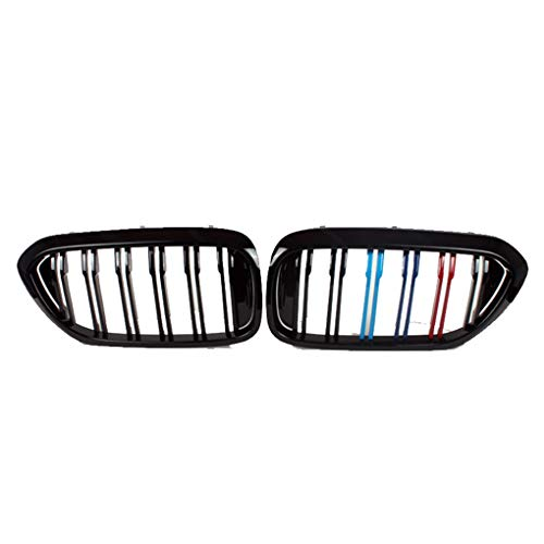Nier Grille Front Voor BMW 1/3/5 Serie X1X3X5X6 Clip In Grille Inserts Compatibel met Black Matte Tricolor