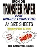 Inkjet Printable Iron On T Shirt & Fabric Transfer Paper For Light Fabrics