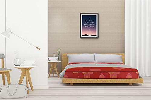 "SleepSpa Soft Bounce Premium Orthopaedic 4"" Single Size (Hd) Foam Mattress (Maroon,72X36X4)"